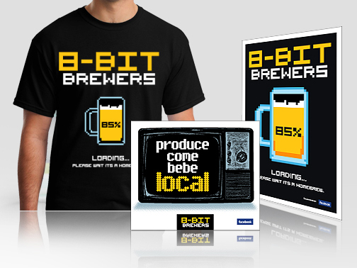 Logo & promotional design for 8BIT Brewers