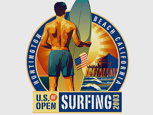 Illustration for the 2003 US OPEN of Surfing
