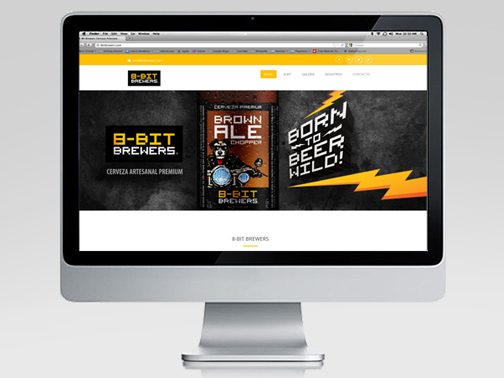 Website design for 8Bit Brewers Brewing Company