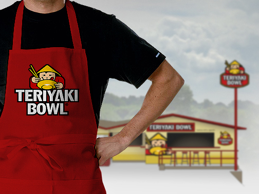 Logo & graphic identity design fro TERIYAKI BOWL fast food oriental restaurant chain