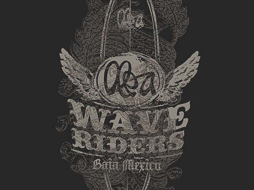 Illustration for Olea Surfboards  Wave Riders
