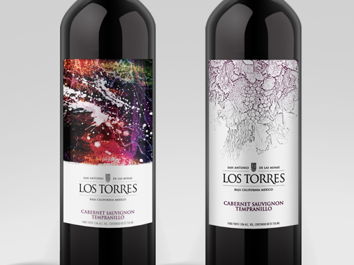 Logo & Wine Labels for Los Torres Winery and Restaurant