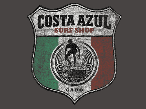 Illustration for Costa Azul Surfshop cabo