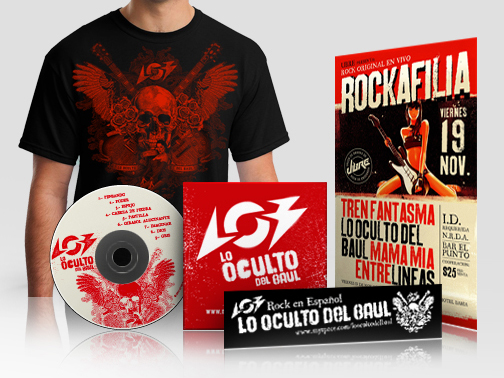Logo & various promotional graphic design for LOB Rock Band