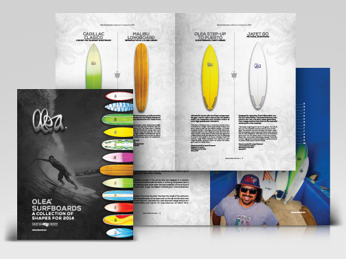 2014 Olea Surfboards Shape Collection Catalog