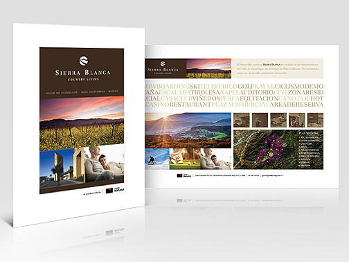 Logo & promotional brochure design for Sierra Blanca Country Living Master Project